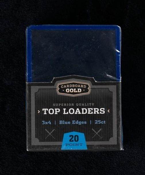 3X4 Toploaders Card Holders - Blue Border - 25ct Pack