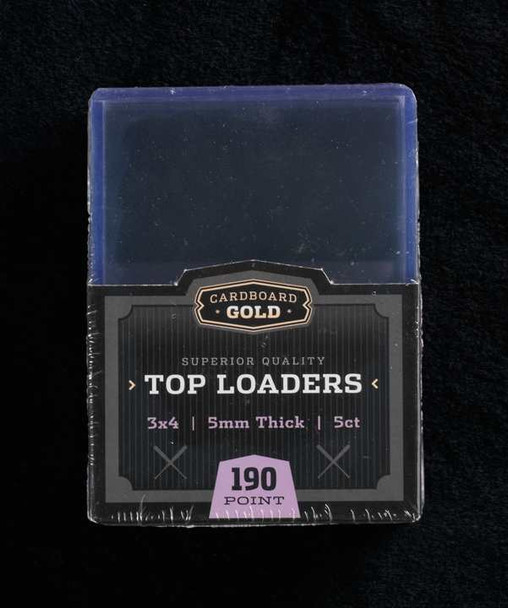 Thick Card Topload Holder - 5mm - 190pt 197pt - Case of 250