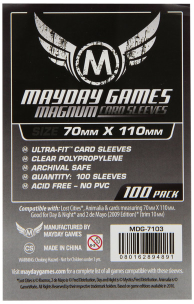 Lost Cities Card Sleeves - Magnum Ultra-Fit - 70mm x 110mm - 100ct Pack