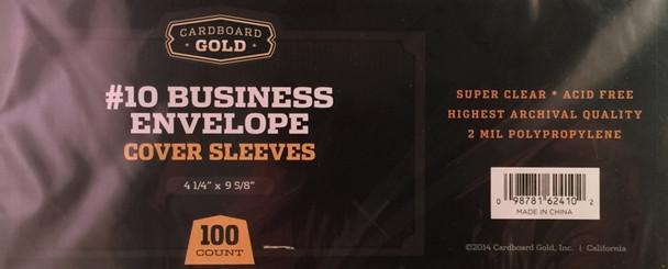 Business Envelope #10 Sleeves - 100ct Pack