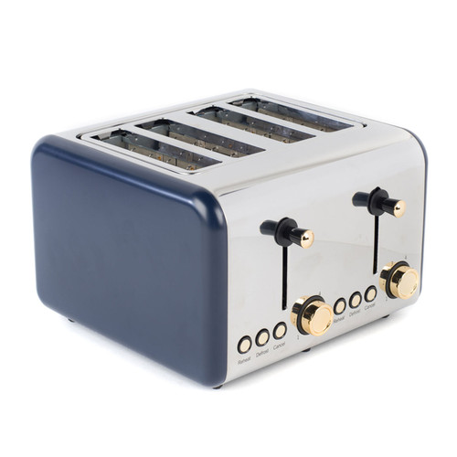 Salter®  4-Slice Toaster with Variable Browning   Navy/Gold