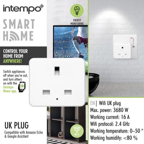 Intempo® Home UK 3- Pin Smart Plug, White