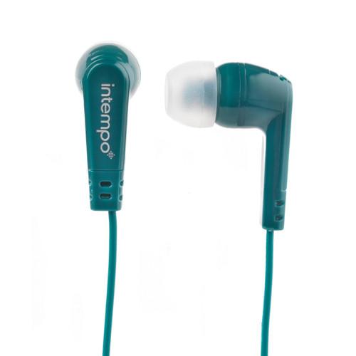 Intempo® Buddy Earphones with Built- in Splitter, Green