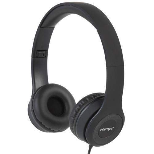 Intempo Folding Clarity Headphones, Black