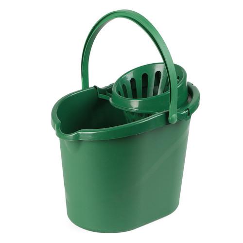 Beldray® Eco Plastic Mop Bucket with Handle, 10 Litre | Green