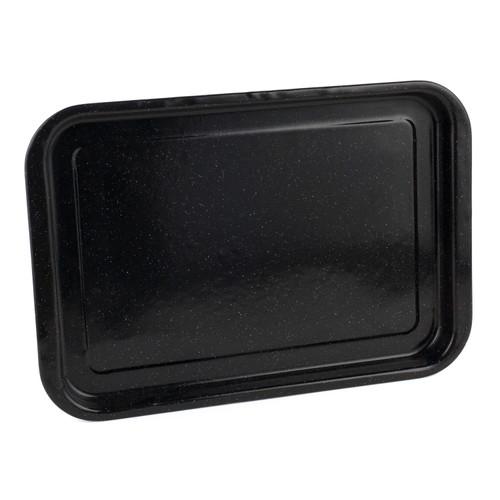 Russell Hobbs Romano Vitreous Enamel Baking Tray, 36 cm, Black