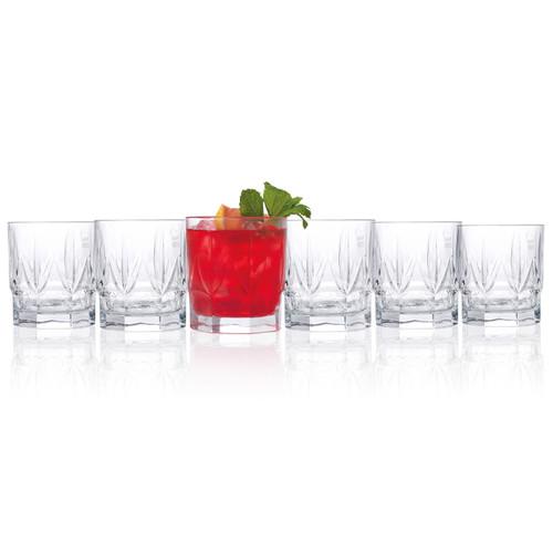 RCR Chic Luxion Crystal Short Tumbler Glasses, 430 ml, Set of 6
