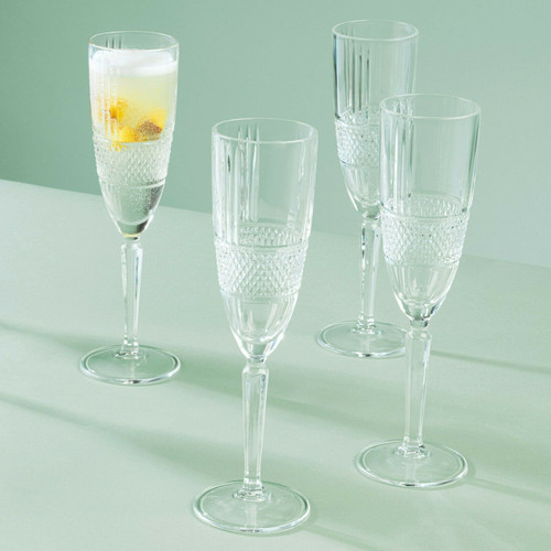 RCR Brillante Champagne Flutes, 185 ml, Set of 6