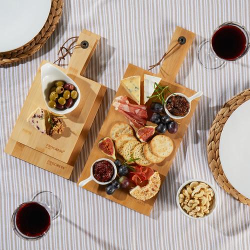 Progress® 3 Pack Bamboo Paddle Chopping Board Set