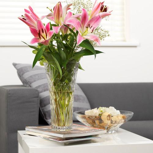 RCR Melodia Crystal Glass Flower Vase, 30 cm