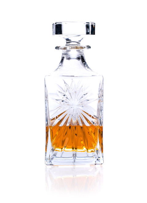 RCR Crystal Square Whisky / Wine Decanter, 85cl