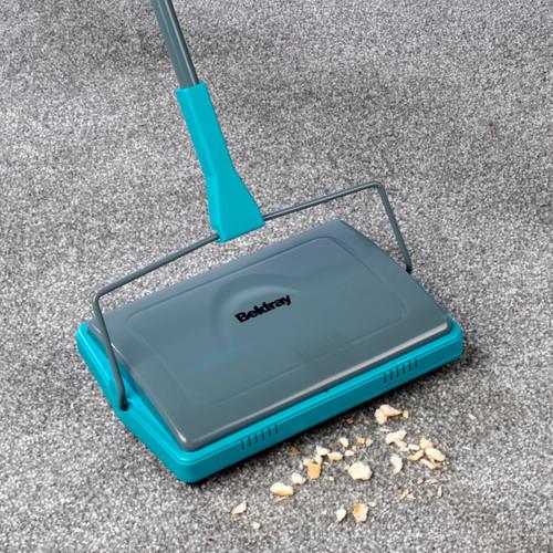 Beldray® Manual Carpet Floor Sweeper Broom, Great for Pet Hair/Dirt