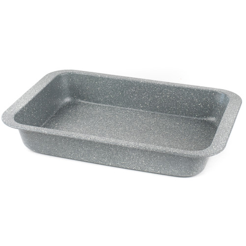 Salter Marble Collection Carbon Steel Roasting Pan, 36 cm, Grey