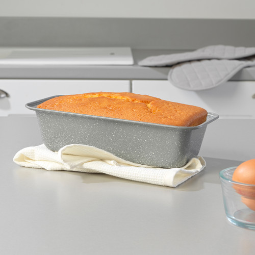 Salter Marble Collection Carbon Steel Loaf Baking Pan, 27 cm, Grey