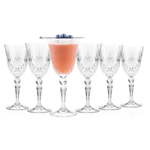RCR Melodia Crystal Wine Glasses, 210 ml, Set of 6 For Entertaining