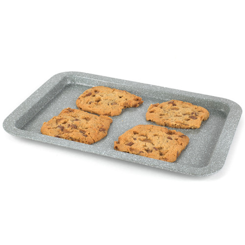 Salter Marble Collection Carbon Steel Baking Tray, 38 cm, Grey