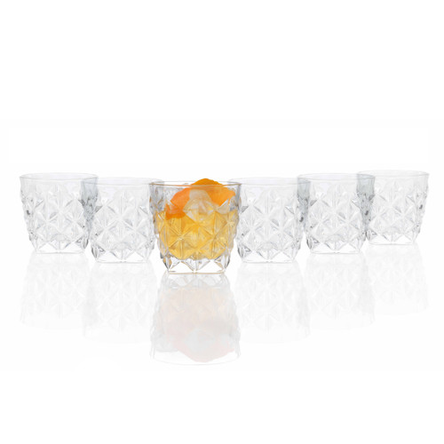 RCR Enigma Luxion Crystal Glass Whisky Tumblers, 370 ml, Set of 6