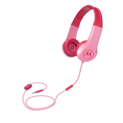 Motorola Squads 200 Kids Wired Headphones | Pink