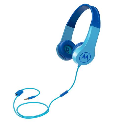 Motorola Squads 200 Kids Wired Headphones | Blue