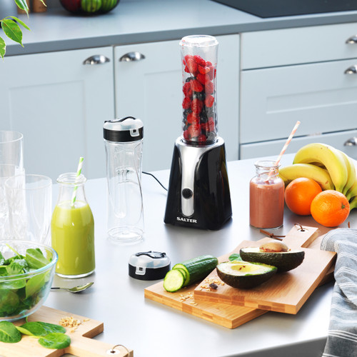 Salter® Blender to Go Perfect for Smoothies with Two 600ml Bottles