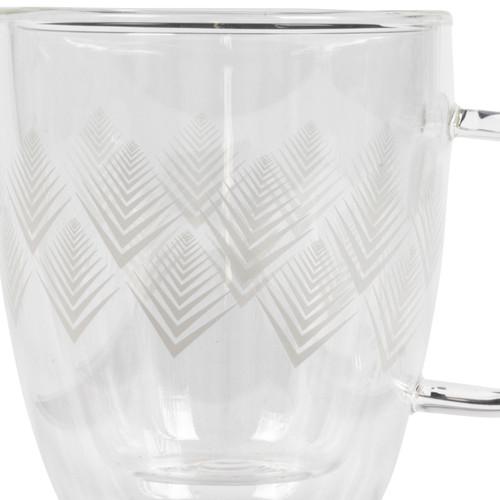 Cambridge® Borosilicate Double Walled Glass Mug, Hollingworth, 300 ml