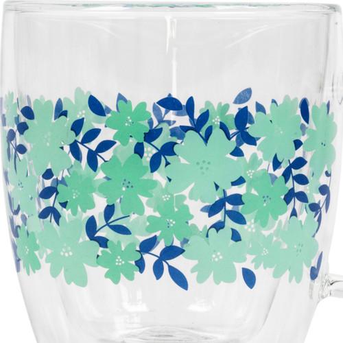 Cambridge® Penelope Borosilicate Double Walled Glass Mug, 350 ml