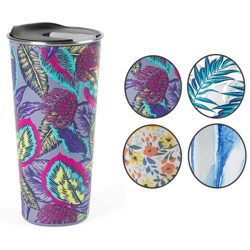 Cambridge® Reusable Wild Tropics Travel Mug With Lid, 500 ml