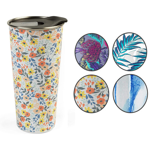 Cambridge® Reusable Ditsy Travel Cup With Lid, 500 ml