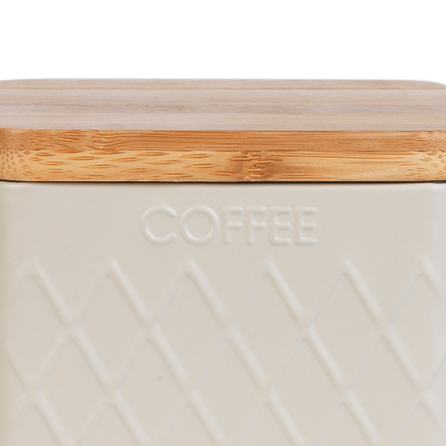 Salter® Embossed Square Canister for Coffee, Cream