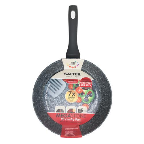 Salter Megastone Collection Non-Stick Frying Pan, Silver, 28 cm