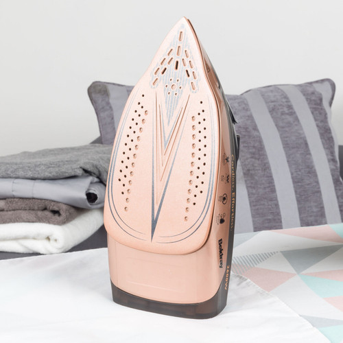 Beldray 2 in 1 Cordless Steam Iron, 300 ml, Rose Gold