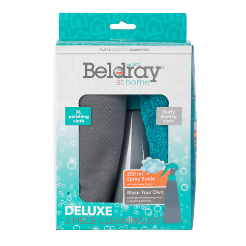 Beldray Spray Bottle with Two Deluxe Cloths   250 ml   Easy Refill