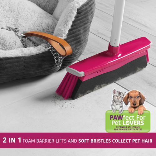 Kleeneze® 2 in 1 Bristle/Foam Broom with 130 cm Handle