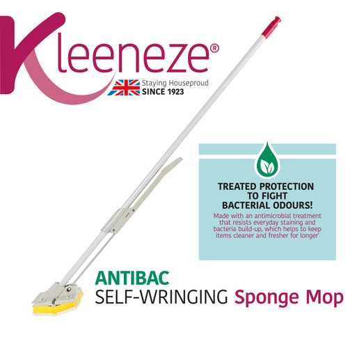 Kleeneze® Anti-Bac Sponge Mop with Refill | Treated with Anti-Bac