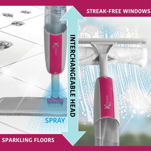 Kleeneze® Antibac 2-in-1 Spray Mop Cleaner | Ideal For Windows