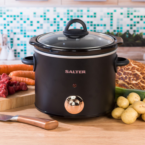 Salter 3.5 Litre Rose Gold Slow Cooker with Three Heat Settings