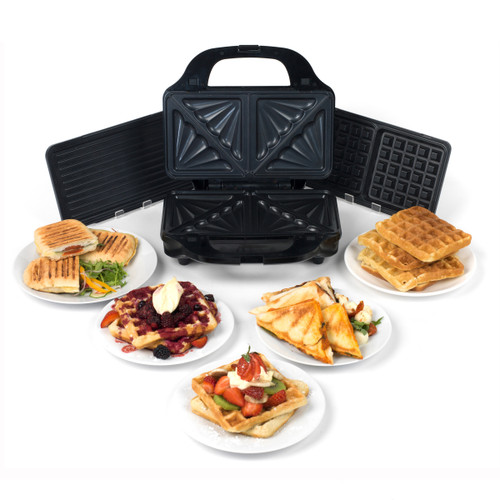 Salter Deep Fill 3-in-1 Snack Maker with Interchangeable Plates