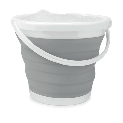 Beldray® 10 L Collapsible Folding Water Car Cleaning Bucket   Grey