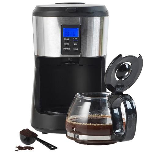 Salter® Caffé Bean to Jug Coffee Maker Integrated Grinder 750ml Carafe