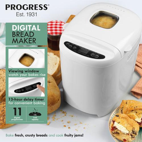 Progress® Digital Bread Maker with 11 Baking Functions