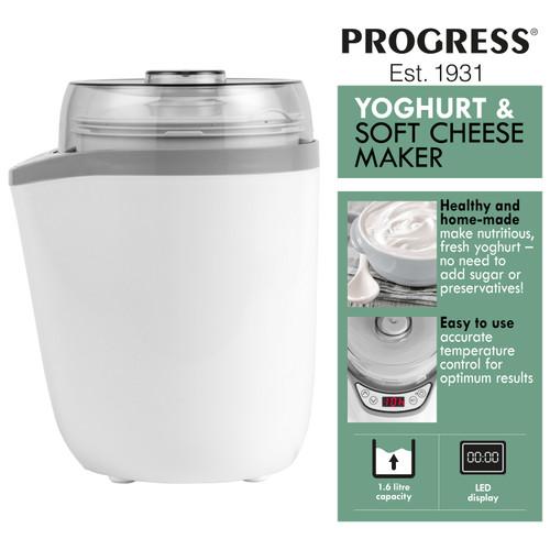 Progress® Soft Cheese/ Yoghurt Maker | 1.6L Strainer Included