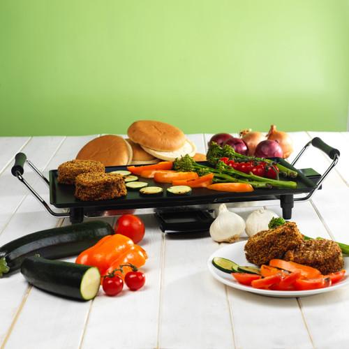 Giles & Posner® Non-Stick Teppanyaki Grill, 43 cm  Black