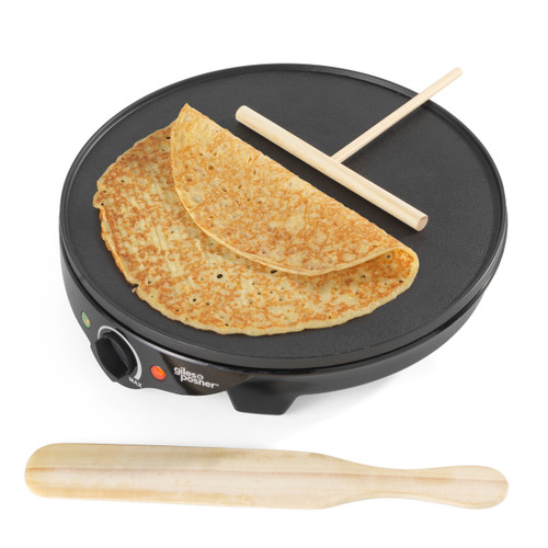Giles & Posner® Electric Crepe Maker | 30 cm/12 Inch Plate