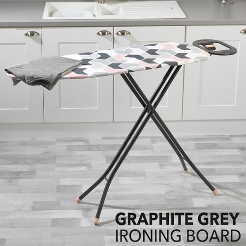 Beldray® Graphite Grey Design Print Ironing Board |Easily Foldable