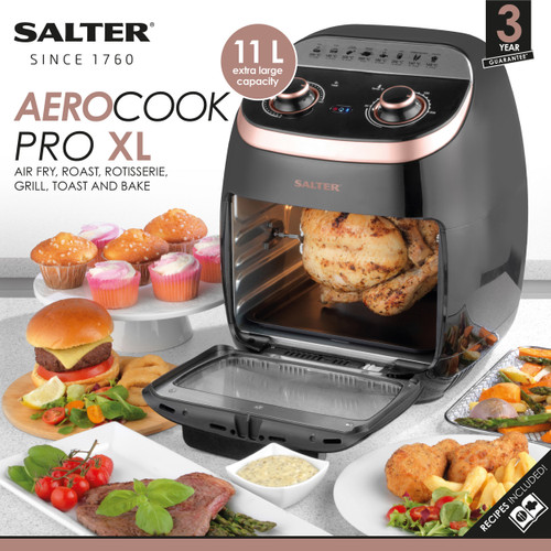 Salter Aerocook Pro XL 11L Air Fryer, Roasting, Grilling, Toasting