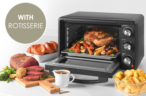 Salter® 25L Compact Mini Toaster Oven, 60 Min Timer/Variable Temp Control