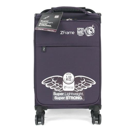 ZFrame 18 inch Small 4 Double Wheel Lightweight Cabin Case, 1.98kg, 30L, Purple