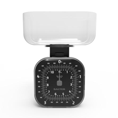 Salter Cube Mechanical Kitchen Scale, Black