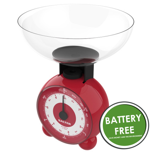Salter Orb Mechanical Kitchen Scale, Red