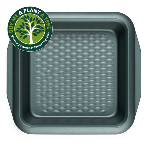 Progress Shimmer Collection Carbon Steel Non Stick Square Baking Pan, 27 cm